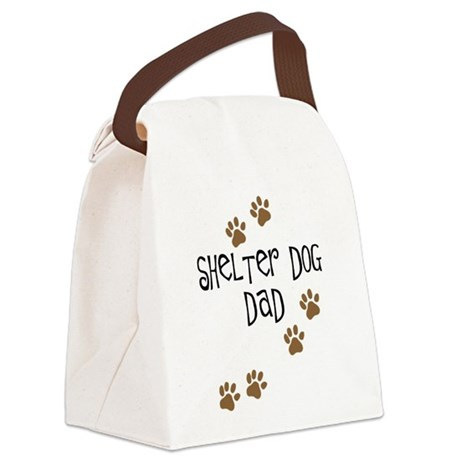 shelter dog dad.png Canvas Lunch Bag