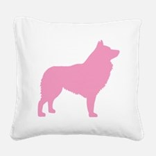 Pink Schipperke Square Canvas Pillow