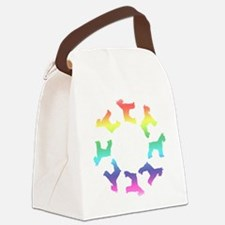 circle of schnauzers rainbow.png Canvas Lunch Bag
