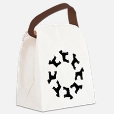 circle of schnauzers.png Canvas Lunch Bag