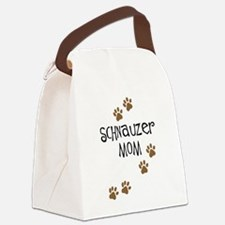 schnauzer mom.png Canvas Lunch Bag