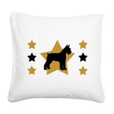 gold star schnauzer wd.png Square Canvas Pillow