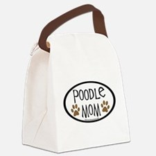 2-poodle mom.png Canvas Lunch Bag