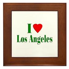 I Love Los Angeles Framed Tile