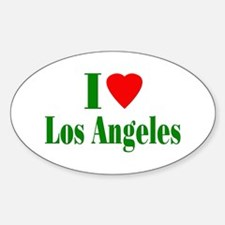 I Love Los Angeles Oval Decal
