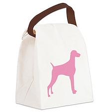 weimaraner pink.png Canvas Lunch Bag