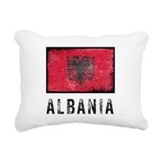 Vintage Albania Rectangular Canvas Pillow
