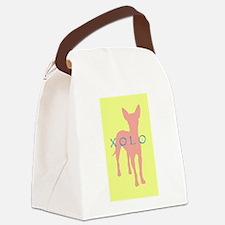 xolo dog yellow.jpg Canvas Lunch Bag