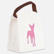 xolo dog pink tall text.jpg Canvas Lunch Bag