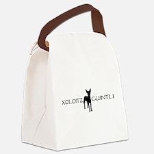 xoloitzcuintli wide black.jpg Canvas Lunch Bag