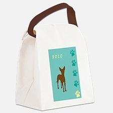 xolo teal tallish.jpg Canvas Lunch Bag
