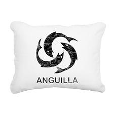 Vintage Anguilla Rectangular Canvas Pillow