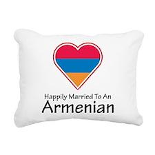 Happily Married Armenian Rectangular Canvas Pillow
