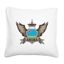 Aruba Emblem Square Canvas Pillow