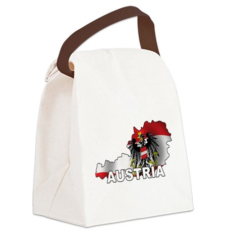 Map Of Austria Canvas Lunch Bag