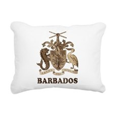 Vintage Barbados Rectangular Canvas Pillow