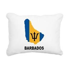 Map Of Barbados Rectangular Canvas Pillow
