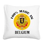 100% Made In Belgium Square Canvas Pillow