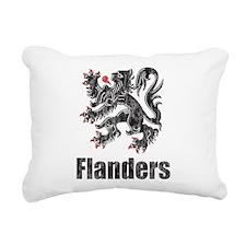 Vintage Flanders Rectangular Canvas Pillow
