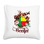 Butterfly Benin Square Canvas Pillow