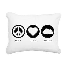 Peace Love Bhutan Rectangular Canvas Pillow