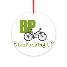 Bikepacking.US green Ornament (Round)