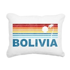 Retro Bolivia Palm Tree Rectangular Canvas Pillow