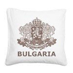 Vintage Bulgaria Square Canvas Pillow