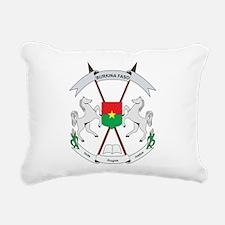 Burkina Faso Coat Of Arms Rectangular Canvas Pillo