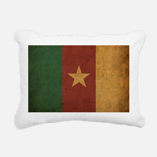 Vintage Cameroon Flag Rectangular Canvas Pillow