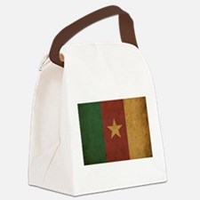 Vintage Cameroon Flag Canvas Lunch Bag
