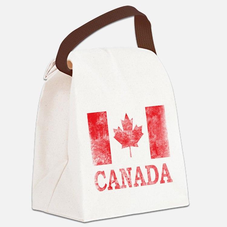 Vintage Canada Canvas Lunch Bag