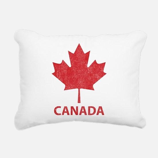Vintage Canada Rectangular Canvas Pillow