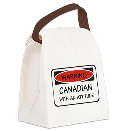 Attitude Canadian Canvas Lunch Bag