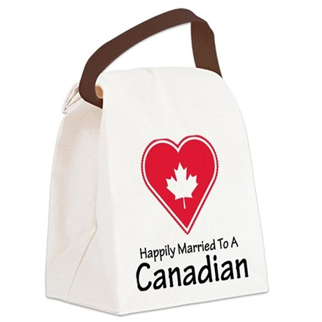 Happily Married Canadian Canvas Lunch Bag