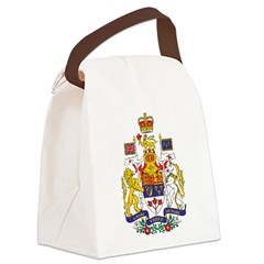 Canada Coat of Arms Canvas Lunch Bag