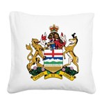 Alberta Coat Of Arms Square Canvas Pillow