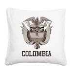 Vintage Colombia Square Canvas Pillow
