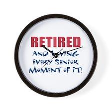 Retired Senior Wall Clock
