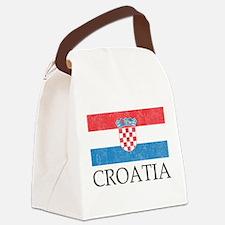 Vintage Croatia Canvas Lunch Bag