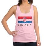 Vintage Croatia Racerback Tank Top