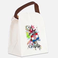 Flower Croatia Canvas Lunch Bag
