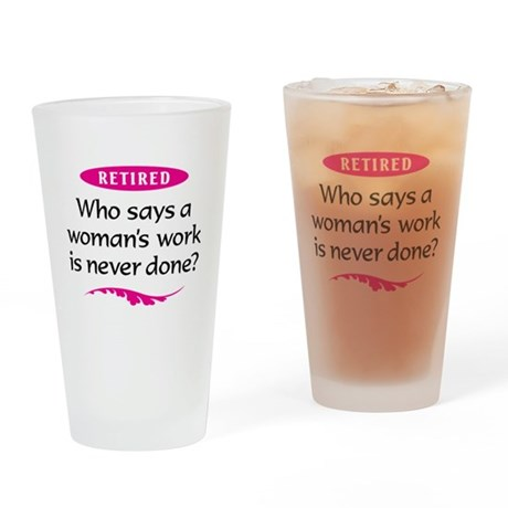 Retired Woman Drinking Glass