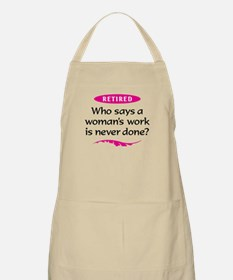 Happily Retired Light Apron