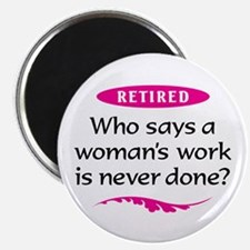 Retired Woman Magnet