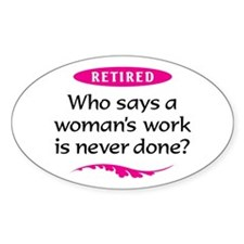Retired Woman Decal