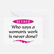 Retired Woman Greeting Card