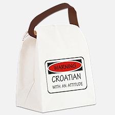 Attitude Croatian Canvas Lunch Bag