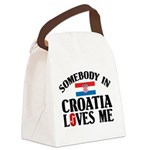 Somebody In Croatia Canvas Lunch Bag