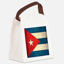 Grunge Cuba Flag Canvas Lunch Bag